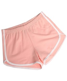 Shorts deportivos de algodón para jogging de verano con ribetes en contraste