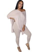Conjunto de camisa larga de verano con aberturas planas y leggings ajustados