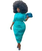 Plus Size Autumn Tie Dye Midi Dress