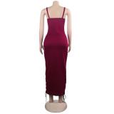 Party Sexy Schnürriemen Midi Kleid