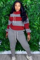 Herbst Wide Stripes Loose Sweat Suit