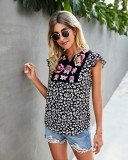 Boho Flroal Print Cap Print Shirt