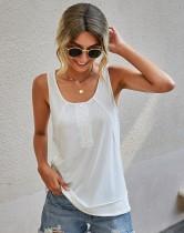 Top sin mangas con botones casuales de verano