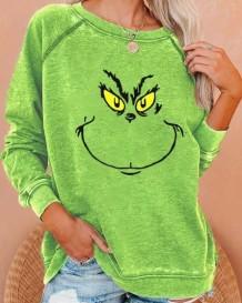 Regular overhemd met ronde hals en herfstprint