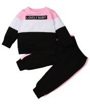 Ensemble chemise et pantalon contrastés automne fille pour enfants