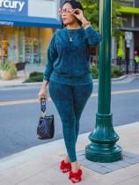 Conjunto de camisa y pantalón con efecto tie dye casual de otoño