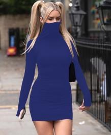 Осенняя вечеринка сексуальное однотонное простое мини-платье