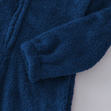 Pyjama d'hiver en molleton zippé pour femme