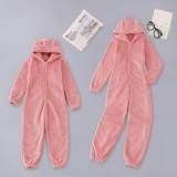 Pyjama d'hiver en molleton zippé pour fille pour enfants