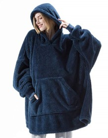 Winter Unisex Oversized Fleece Hoody Top