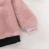 Haut en molleton polaire contrasté pour enfants fille