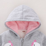 Veste d'hiver zippée à capuche pour enfants fille