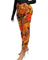 Pantalones cargo con estampado de camuflaje casual de otoño
