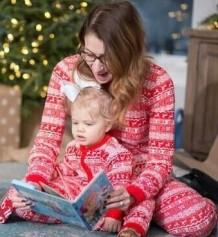 Conjunto de pijama familiar navideño - Conjunto de mamá