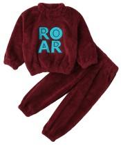 Conjunto de pantalón y top de lana de invierno para niña