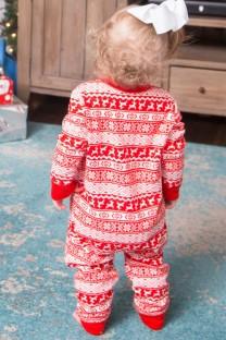 Yılbaşı Aile Pijama Takımı - Bebek Tulum