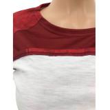 Sonbahar Eşleştirme Baskı İki Parçalı Dar Gömlek ve Pantolon Seti