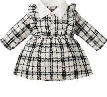 Baby Girl Winter Plaid Print Birthday Party Dress
