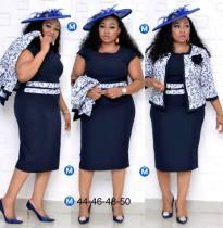 Vestido de dos piezas de la madre de la novia de talla grande