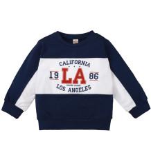 Kids Boy Herbst Kontrast Letter Print Shirt
