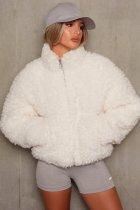 Veste polaire zippée à col roulé d'hiver
