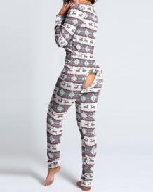 Pijama mono de Navidad con caderas abiertas sexy