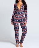 Pijama de quadris com abertura sexy e de Natal