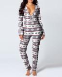 Weihnachten Sexy Openable Hips Onesie Pyjama
