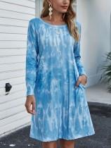 Abito camicia autunno casual tie dye