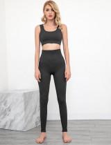 Zomersporten Fitness Yoga-bh en leggingset met hoge taille