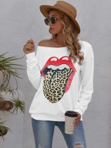 Camicia casual con linguetta O-Collo autunnale