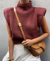 Herbstlicher Rollkragenpullover mit Rollkragen und lockerem Pullover