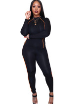 Autumn Sports Long Sleeves Tight Top and Pants Set