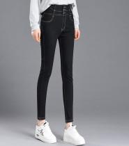 Wintergewassen, dichtgeknoopte skinny jeans met hoge taille