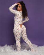 Herfst sexy te openen heupen onesie pyjama