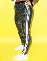 Pantalon ajusté à rayures latérales de fête d'hiver