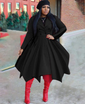 Kış Katı Pileli Blazer Patenci Elbise