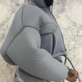 Winter Turtleneck Zipped Short Jacket