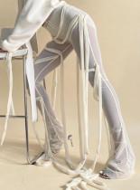 Pantalones de malla de cuerdas sexy de fiesta de verano