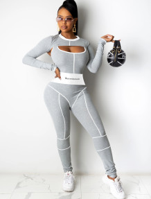 Spring Sports Fitness tweedelige jumpsuit