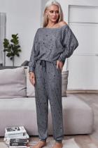 Ensemble pyjama avec chemise et pantalon à imprimé étoiles de printemps