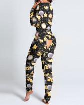 Tuta da pigiama con stampa patch per feste di capodanno 2021
