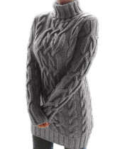 Winter Rollkragenpullover mit langem Pullover