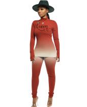 Bijpassende set voor overhemd en broek met kleurovergang, lente-letterprint