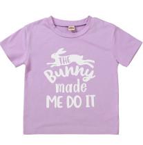 Camisa roxa com estampa de verão para bebê