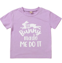 Baby meisje zomer print paars shirt