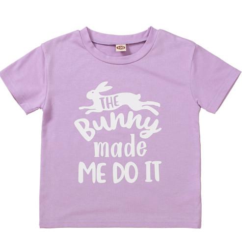 Baby Girl Summer Print Purple Shirt