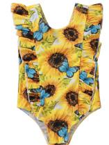 Roupa de banho floral de verão para bebê menina