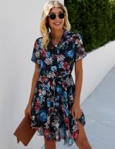 Vestido corto floral casual de verano