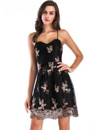 Sommer formelle Pailletten Strap Short Prom Kleid
